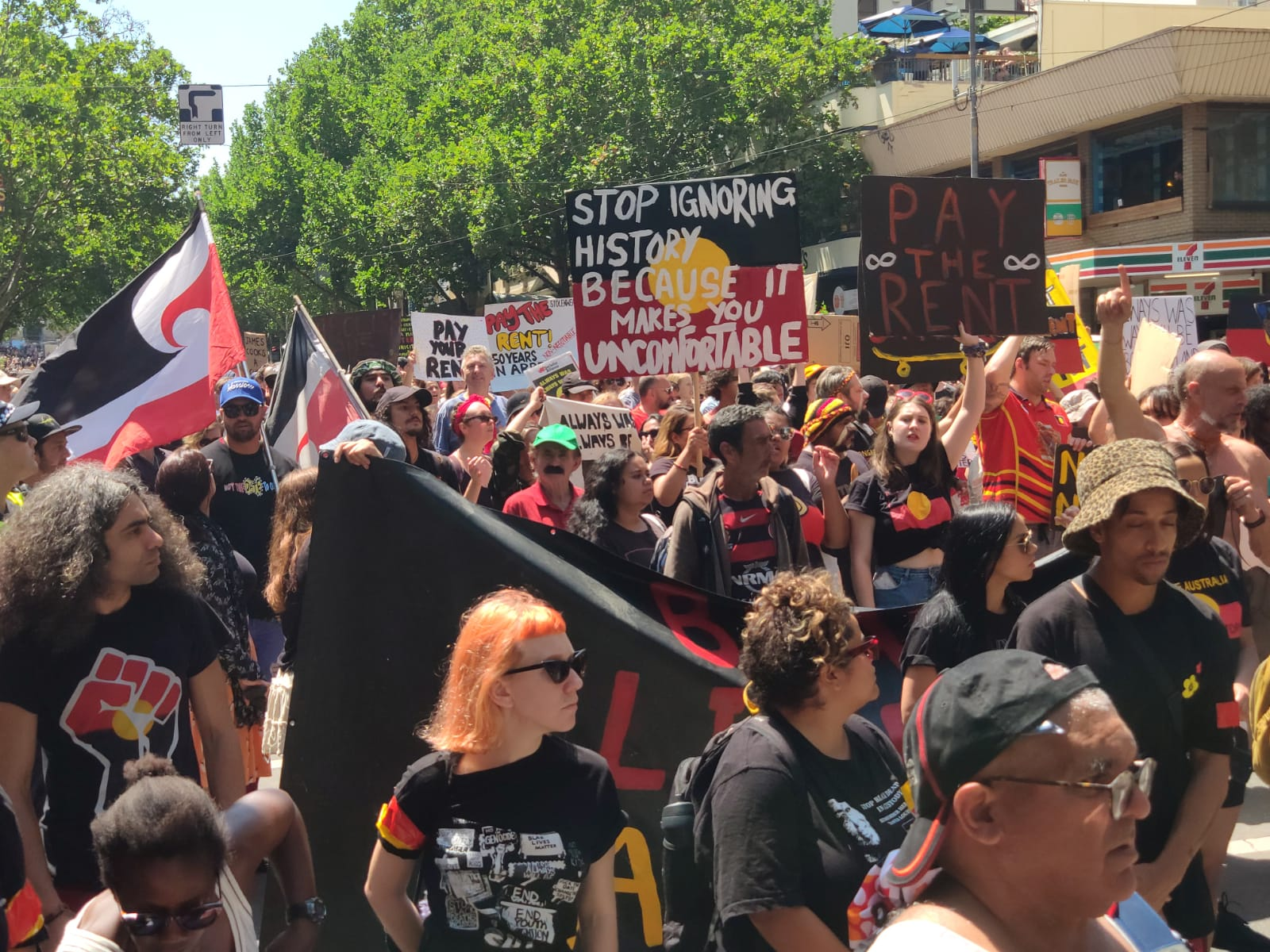 Invasion Day protests draw tens of thousands across the country