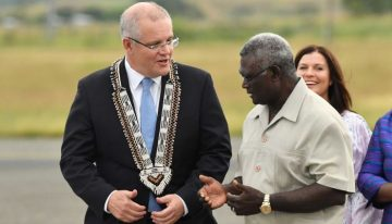 What's behind Morrison's aid to the Solomon Islands?