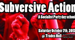 Subversive Action day school this Saturday