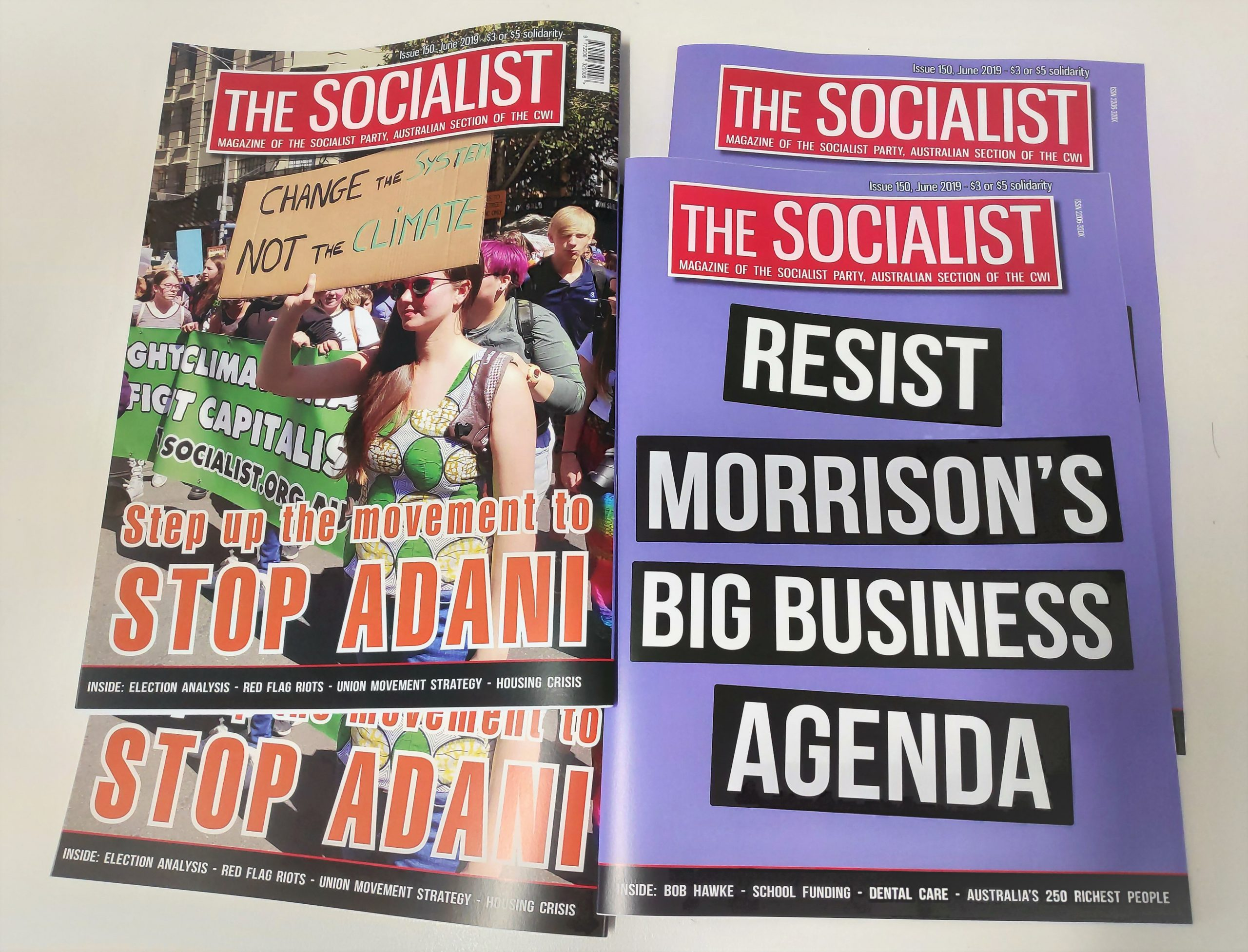 150 editions of The Socialist!