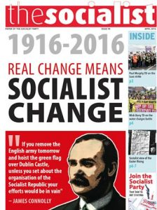 Front cover of the April 2016 issue of The Socialist, paper of the Socialist Party (CWI Ireland)