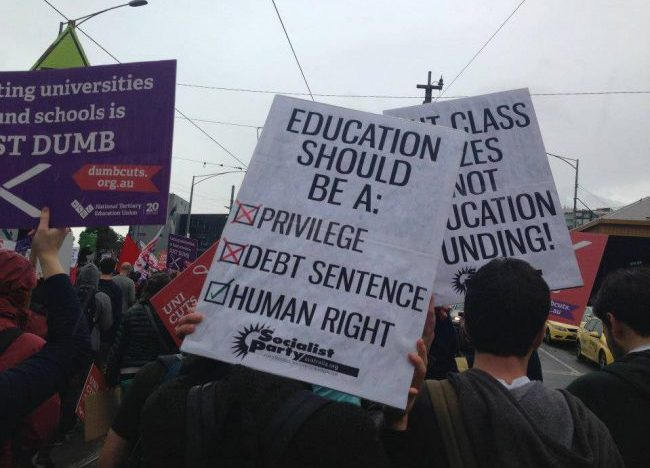 Fight for free education for all!