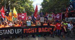 Unions rally against Abbott